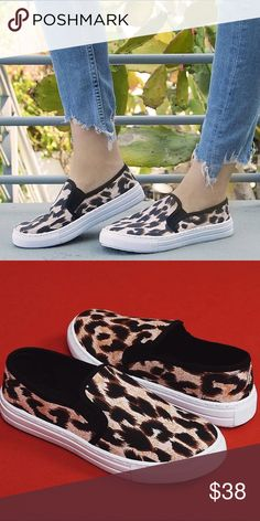 Leopard print slip on sneakers ✨JUST IN✨ NWT 9bc794152