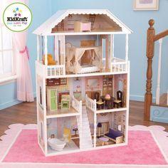 New Kidkraft Savannah Dollhouse 4 Levels Girls Barbie Furniture Doll Play House Dolls House Uk, Kids Doll House, Wooden Dollhouse, Wooden Dolls, Dollhouse Furniture, Girls Dollhouse, Dollhouse Dolls, Colorful Furniture, Kids Furniture