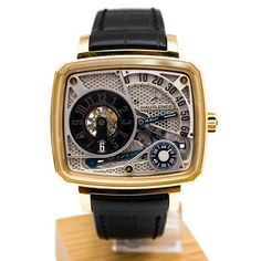 Hautlence HL HL01 43.8 Automatic 18K Gold Case Black Leather Anti-Reflective Sapphire Men's Watch - http://tourbillonwatches.biz/product/hautlence-hl-hl01-43-8-automatic-18k-gold-case-black-leather-anti-reflective-sapphire-mens-watch
