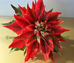 cuocicucidici: TUTORIAL STELLA DI NATALE IN GUMPASTE- HOW TO MAKE A GUMPASTE POINSETTIA