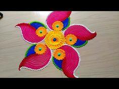 Innovative Diwali Festival's Rangoli Design - ArtsyCraftsyDad Rangoli Designs Diwali, Simple Rangoli Designs Images, Rangoli Designs Latest, Rangoli Designs Flower, Colorful Rangoli Designs, Diwali Rangoli, Flower Rangoli, Beautiful Rangoli Designs, Easy Rangoli