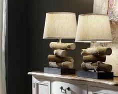 Resultado de imagen para imágenes de troncos de árboles hechos lámparas