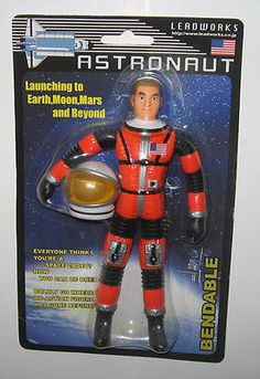Vintage Leadworks Matt Mason Red Orange Astronaut Bendable Figure MOC for sale online Vintage Toys 1970s, 1960s Toys, Retro Toys, Gi Joe, Big Blue Whale, Orange Suit, Batman Poster, Space Toys, Normal Guys