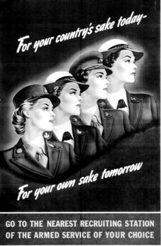 Vintage WAVES poster from WW II