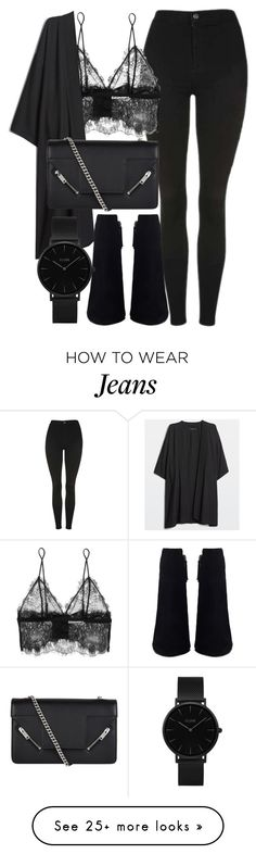 """Untitled #6813"" by laurenmboot on Polyvore featuring Topshop, Anine Bing, Yves Saint Laurent and CLUSE"