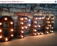 weekend On Sale OPEN sign Vintage Style Metal Letters light fixture 1…