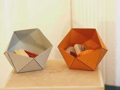 DIY-Anleitung: Geometrische Papierschachtel falten, Origami / DIY-tutorial: folding geometrical paper boxes, origami via DaWanda.com