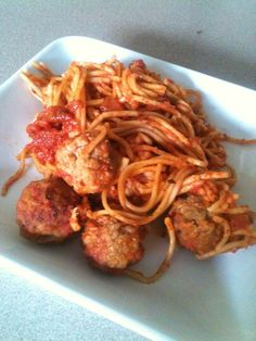 Spaghetti and meatballs in the slow cooker.  No waiting for water to boil.
