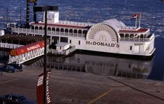 Loved going here when i was a kid! McDonald's River Boat on the Mississippi River, St. Louis, MO