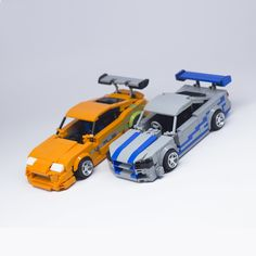 Lego Toyota Supra Fast and Furious & Nissan Skyline GTR moc scale Scrap Mechanics, Lego Technic Sets, Toyota Supra Mk4, Lego Building Sets, Lego Speed Champions, Lego Pictures, Lego Mechs, Lego Room, Cool Lego Creations