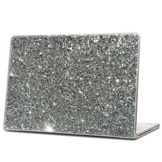 Silver Glitter Laptop Skin by IridescentBeauty, $40.00 - Love! Glamorous and affordable.