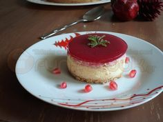 Cheesecake με Τυρί Καμαμπέρ και Ζελέ Ρόδι, αρωματισμένο με Αρμπαρόριζα!