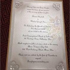 Pretty winter wedding invite