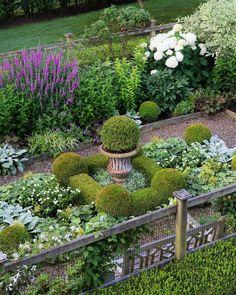 Very pretty perennial garden