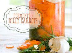 Mila's Meals Dilly Carrots Recipe from the Mila's Meals Advent Calendar. Choc-a-bloc full of probiotics. Carrot Recipes, Snack Recipes, Snacks, Best Probiotic, Fermented Foods, Sauerkraut, Kefir, Fabulous Foods, Advent Calendar