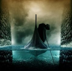 Across the River Styx – Digital Art by PSHoudini - Pondly (PSHoudini is the nom de guerre of Brazilian artist Miguel P)