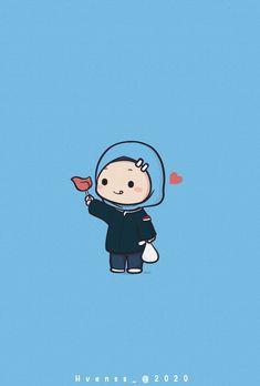 Baby Cartoon Drawing, Cartoon Sketches, Cartoon Art, Cartoon Girl Images, Cartoon Photo, Muslim Pictures, Hijab Drawing, Cute Bear Drawings, Islamic Cartoon