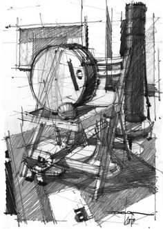 Drawing Architectural Architectural Drawings by Andrei ( Zoster ) Răducanu, via Behance - Love Drawings, Drawing Sketches, Art Drawings, Basic Drawing, Drawing Lessons, Architecture Concept Drawings, Urban Sketching, Sketch Design, Painting & Drawing
