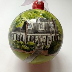 Custom house portrait ornament housewarming by MagicMarkingsArt, $45.00