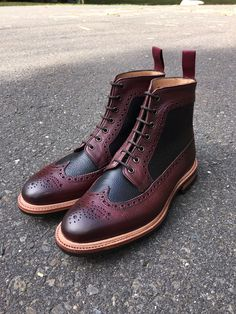 Two-tone long wing boots by ALFRED SARGENT for CORRESPONDENT SHOES. Order them at WWW.CORRESPONDENTSHOES.COM