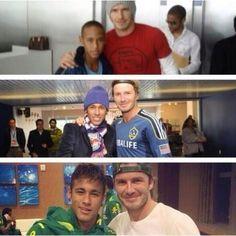 Neymar and David Beckham over the years.