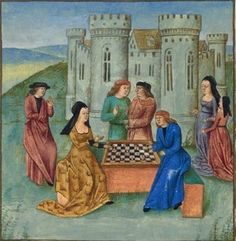 ARTICLE: Symbolism in Medieval Chess. Click through to read. Chess was also called the game of love in period. Medieval images of men & women playing chess are iconographic images of lovers.