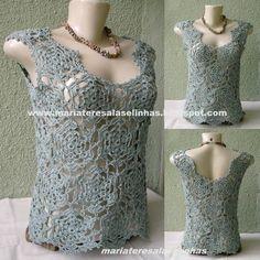 crochet | Blusa Crochet - MT4330 | Maria Teresa Lãs e Linhas | 2A0691 - Elo7