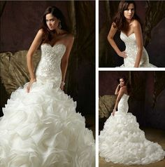 jeweled wedding dresses | Organza Wedding Dress, Bridal Ball Gown Jeweled Buttons Back Dresses ...