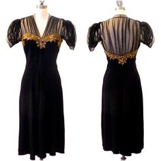 1940s Dress, Gold Sequin Beaded 40s Cocktail Evening Dress by daisyandstella, $375.00  https://www.etsy.com/listing/165088365/1940s-dress-gold-sequin-beaded-40s