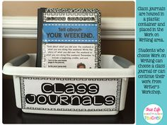 Using Class Journals During Work on Writing free basket label