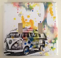 Retro Volkswagon Van Decorative Light Switch Cover Plate Great Room Decor