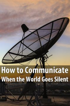 If a widespread disaster strikes, cell phone towers could be jammed or stop working altogether. That's why we need other forms of communication.