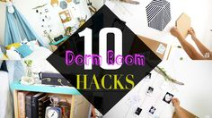 Top 10 BACK TO SCHOOL Dorm Room Decor HACKS