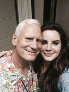 Lana Del Rey backstage with her father Rob Grant after her show in Atlanta, Georgia (Jun. 14, 2015)