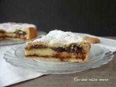 Crostata+di+amaretti+alla+crema+pasticcera