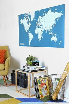 World Map Pin Board