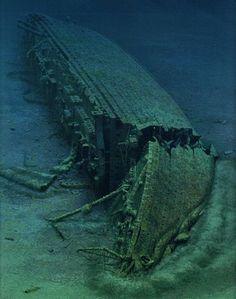 Los restos del Britannic fueron descubiertos el 3 de diciembre de 1975 por el explorador francés Jacques Cousteau, y fueron explorados posterior- mente en el año 1976. El Britannic fue localizado en las coordenadas 37°42′05″N 24°17′02″E a una profundidad de 120 metros. El pecio es considerado un cementerio de guerra y por tanto su exploración es limitada aunque accesible por buzos. Se encuentra recostado totalmente sobre su lado de estribor, y está relativamente bien conservado.
