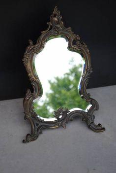 Miroir barbier triptyque vintage