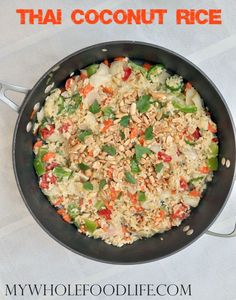 Thai Coconut Rice. Just as good as takeout and easy to make yourself! Vegan and gluten free.