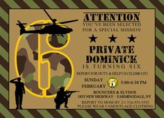 Army Invitation FREE Thank You Card File Camouglage