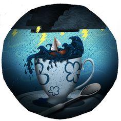 'A Storm in a Teacup' Zoe Shelton Illustration