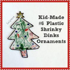 Kid Made Shrinky Dinks Christmas Tree Ornament from Lalymom #CreativeMamas #KBNMoms #Kid-MadeChristmas
