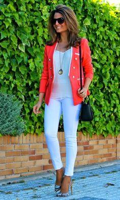 Look Vermelho + Estampa nos pés - Moda it   Moda It
