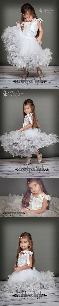 Absolutely Gorgeous!  Sparkles and Shine Girls Feather Dress