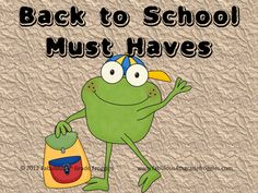 Fabulous 4th Grade Froggies: Back to School Must Haves and 'Working Wilsons'
