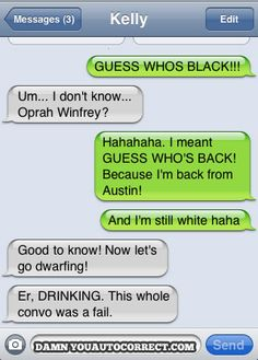 funny auto-correct texts - 15 Most Popular Autocorrects From March 2011