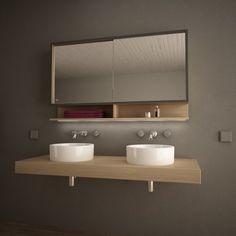 Spiegelschrank Mit Schiebetüren Und LED Mondomo