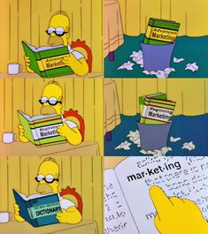Homer Simpson brushes up on #marketing :-) | #careers #HomerSimpson