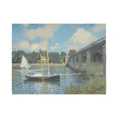 Claude Monet Bridge at Argenteuil Cotton Linen Wall Tapestry 80