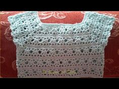 Crochet yoke for baby 12 - 18 months step by step tutorial. Part 2 of 2 Crochet Yoke, Crochet Girls, Crochet For Kids, Crochet Baby, Projects To Try, Girls Dresses, Crafts, Videos, Crochet Blouse